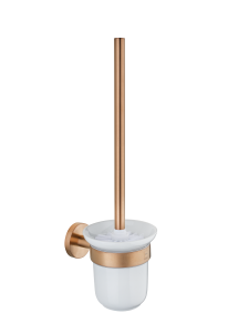 WC toilet brush with holder