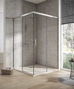 Shower enclosure angular 2 sliding door