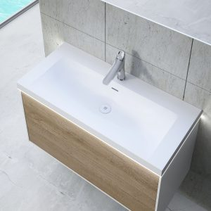 Inset basin  with LED