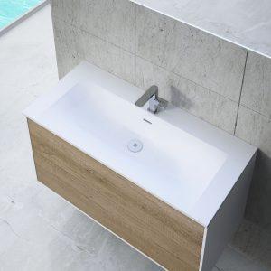 Lavabo de resina integrado