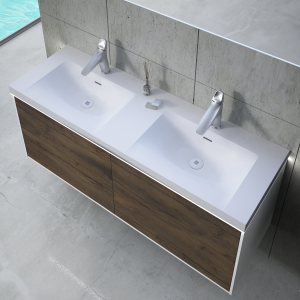 Inset basin double  with LED