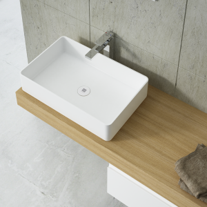 Rectangular countertop basin 40cm