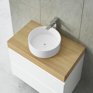 Round countertop basin