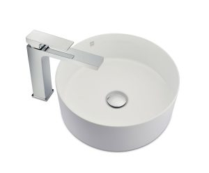 Round ceramic countertop basin