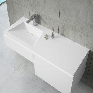 Inset Basin-left 140cm 80+60
