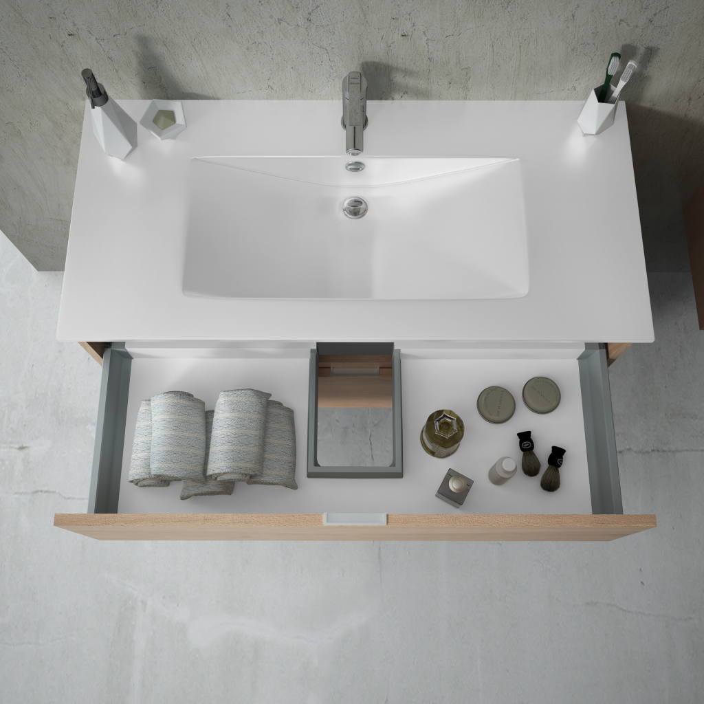 Bath cabinet 2 drawers 70191