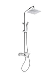 Columna de ducha termostática con caño