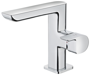 Cascade washbasin mixer