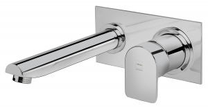 Wall washbasin mixer