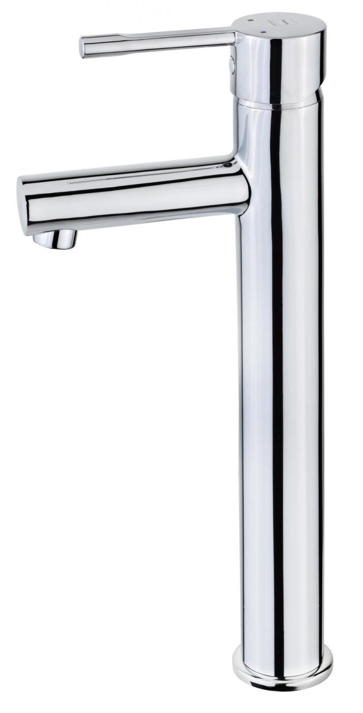 Grifo alto de lavabo con desagüe automático