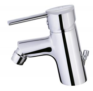 Bidet mixer with popup waste