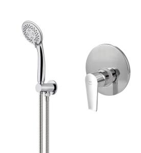 Conjunto de grifo empotrado de ducha con ducha de mano