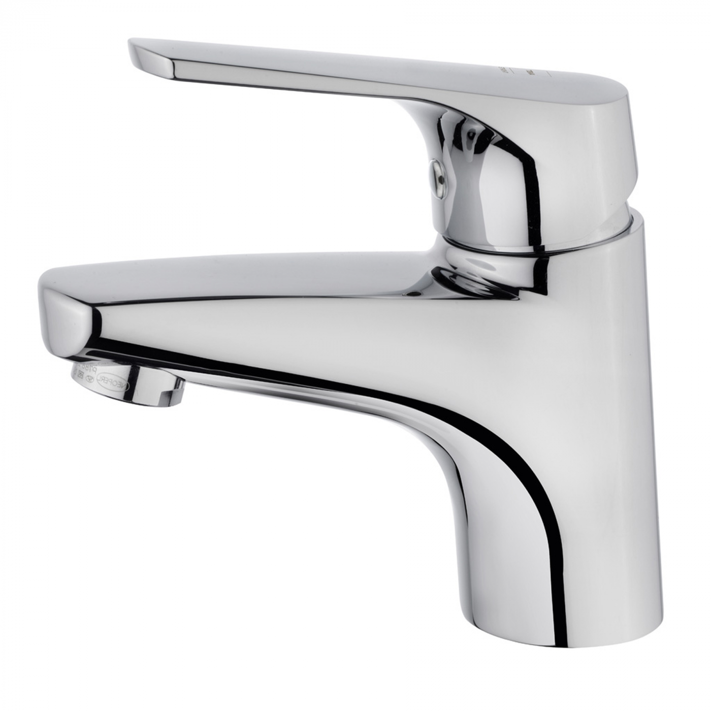 MT Plus washbasin mixer no pop-up waste