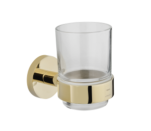 tumbler holder with glass