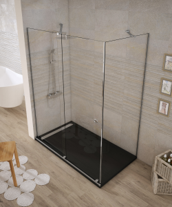 Shower enclosure angular 1 sliding door