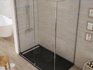 Shower enclosure angular 1 sliding door